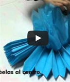 Pompones de papel: un video-tutorial