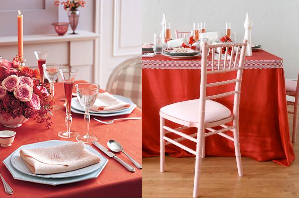 Decoración San Valentín ideas para la mesa , Revista