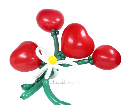 flores hechas con globos