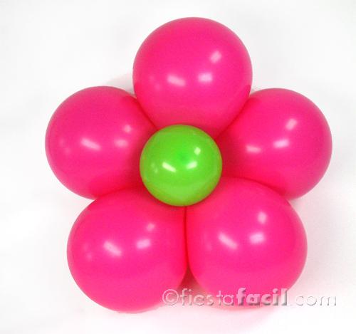 como hacer una flor con globos