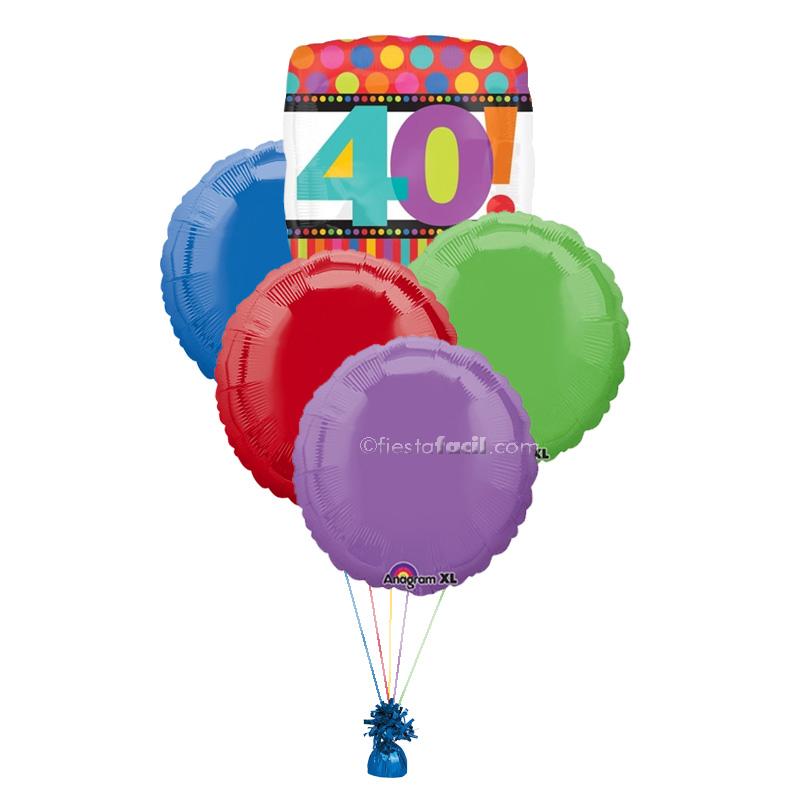 un ramillete de globos para un cumpleaos