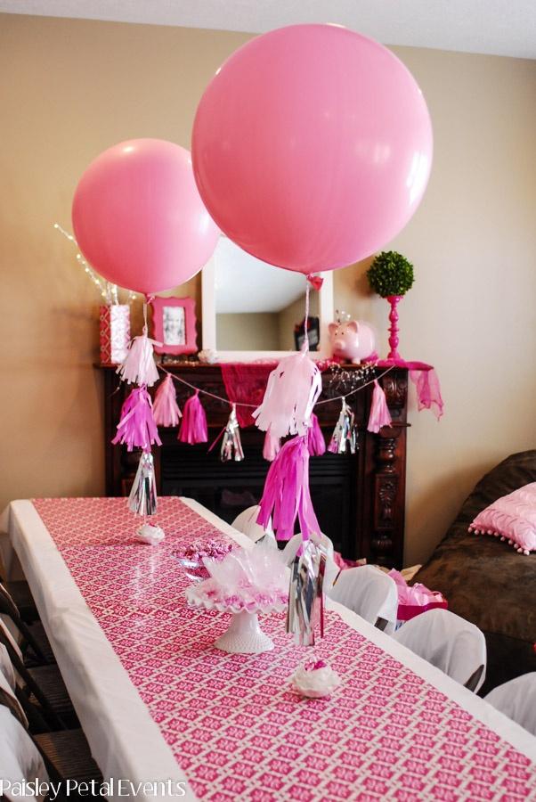 Decoracion con globos para cumplea os de princesas for Decoracion con fotos en pared