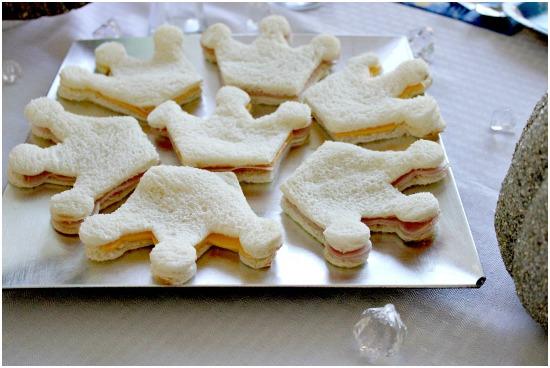 sandwiches para una fiesta princesa
