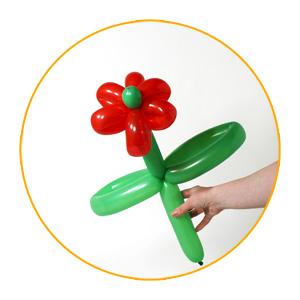 tutorial para hacer una flor con globos moldeables