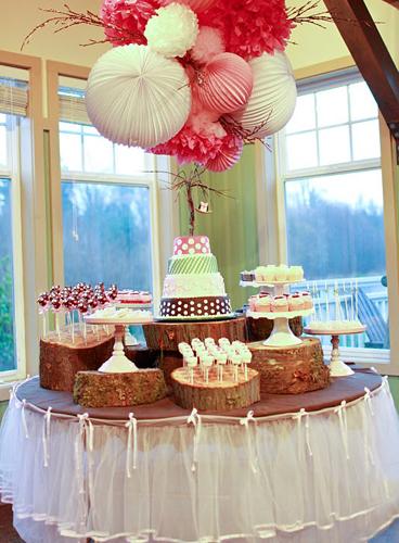 una preciosa mesa de dulces